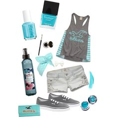 """- Turquoise Hollister Summer -"" by linds555 on Polyvore"