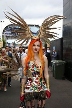 Geoffrey Edelsten and Gabi Grecko - Geoffrey Edelsten Gabi - 1 Quirky Fashion, Fashion Art, Melbourne Cup, Wearable Art, Style Inspiration, Inspired Outfits