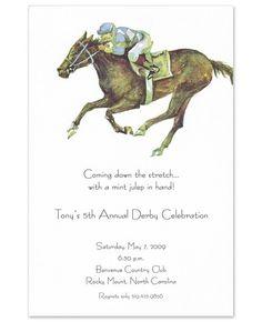 A day of jockeys, juleps, and jubilee! | Jockey Invitations - Odd Balls (#62788) |  FineStationery.com