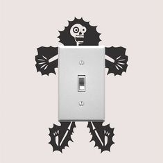 Electrocuted Guy Outlet Decal Sticker, Funny Wall Decal, Light Switch Art, Outlet Sticker, Cartoon E