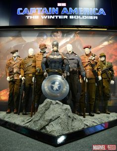 """SDCC 2013: Captain America: The Winter Solider Stealth Suit  [Betting we'll see a """"Captain America Museum"""" display at Disneyland in 2014.]"""