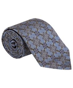 Liberty London Blue Owen Print Silk Tie | Ties by Liberty London | Liberty.co.uk