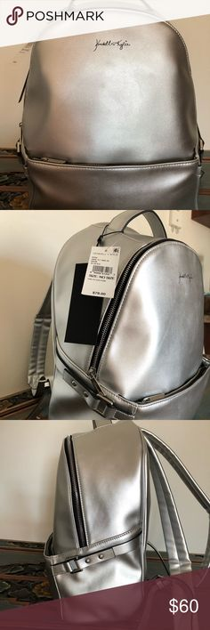 Kendall + Kylie Large Silver Backpack. Large Silver Backpack. Brand new. Perfect condition. Originally $78. Kendall & Kylie Bags Backpacks