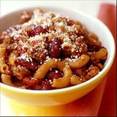 Core Whole-wheat Chili-mac 6 Points on BigOven: This one-pot hearty meal can easily be altered to meet your family's tastes. Try subbing ground turkey breast for the beef and whole-wheat spirals or wagon wheels for the elbow macaroni.