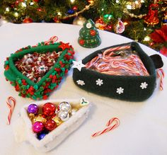 candy dishes - Christmas Candy Dishes