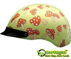 Tortugaz™ Universal DOT Motorcycle Bike Helmet Cover Protector Red Mushrooms