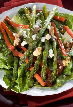 Roasted Asparagus Salad With Pomegranate Molasses Vinaigrette