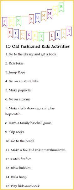Fun Summer Bucket List for Kids | Old Fashion Activities