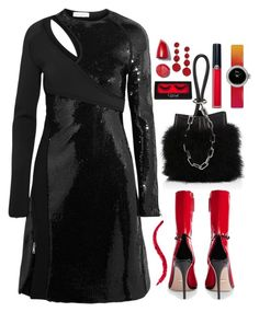 """""""Favorite dress"""" by sunnydays4everkh ❤ liked on Polyvore featuring Alexander Wang, Gucci, Thierry Mugler, Christian Dior, Armani Beauty and Kenneth Jay Lane"""