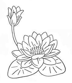 flor de loto e lili para pintar e imprimir