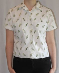1980's perfume patterned shirt