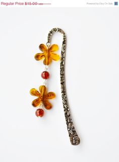 ON SALE Fashion Flower Metal Bookmark by JewelleryIrozochka, $14.70