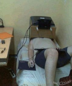 Get a laugh: Pro gaming setup | #lazy, #fat, #poor, #gaming, #setup, #bed, #funny