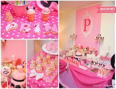 Fantastic pink Minnie Mouse birthday party! See more party ideas at CatchMyParty.com!
