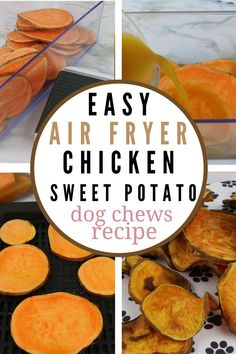 Dog Treat Recipe: Homemade DIY Air Fryer Chicken Sweet Potato Dog Chews are cheap and delicious, cheap and easy to make. Sweet Potato dog chews are healthy for your furry friend. Sweet Potato Dog Chews, Sweet Potato Skins, Sweet Potatoes For Dogs, Easy Dog Treat Recipes, Homemade Dog Treats, Dog Food Recipes, Dog Jerky Recipe, Cookie, Recipes