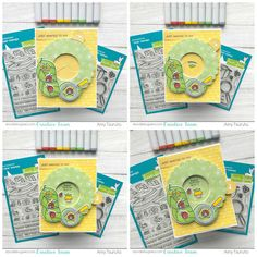 Hello and Happy Friday! It's Amy here and I'm so excited to share my project for today. It features some of the new Lawn Faw. Iris, Owl Punch, Punch Art, Paper Crafts Magazine, Handmade Birthday Cards, Handmade Cards, Interactive Cards, Heartfelt Creations