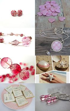 ATCTTeam BNS Treasury Round 9 ~ OPEN ~ Pretty in Pink - afternoon tea atctteam bridal candles fabric earrings female gifts gifts under 20 ocead pastel pink pink decor pink earrings pink gingham pink hear pink necklace shaby chic silk scarf wedding gifts --Pinned with TreasuryPin.com
