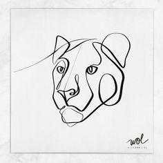 Tattoo Line, Line Art Tattoos, Tattoo Drawings, Tiger Tattoo Small, Lion And Lioness Tattoo, Tattoo Minimaliste, Small Chest Tattoos, Lion Sketch, Single Line Drawing