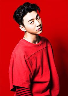 Wow he looks so good in red!!!  #bap #yongguk #bangyongguk #kpop