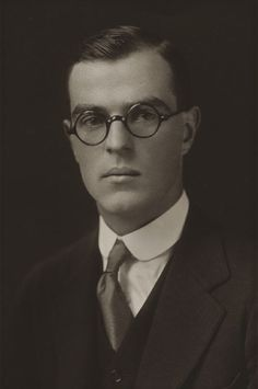 Thornton Wilder, age 23, 1920, from his Yale graduation photograph.