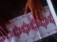 VIDEO 8 PORTA TRAVESSA COM BORDADO EM VAGONITE #Bordado vagonite - YouTube