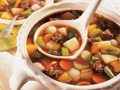 Old-Fashioned Beef-Vegetable Soup (substitute turkey)