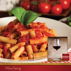 Bring harmony to your Rigatoni Rosso with a pleasantly fruity Chianti. #winepairing