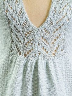 Lace Insertion of the Sylvia Sweater, designed by Sylvia Häger. Knit with Blue Sky Alpacas Alpaca Silk yarn Lace Knitting, Knitting Stitches, Knitting Patterns, Crochet Patterns, Knitting Projects, Knitwear, Knit Crochet, Pullover, Couture