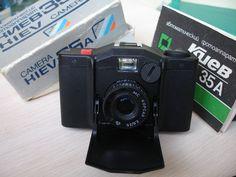 Kiev 35A Soviet Arsenal 35mm Automatic miniature compact camera Minox USSR LOMO Original Case Work Lomography Vintage Soviet CAMERA by VintageNostalgiShop on Etsy