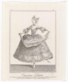 Gallerie des Modes et Costumes Français, 1779,  Z 143 : Paysanne Galante, J.B. Martin, 1779