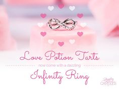 This week, we have a lovely surprise for you! Hidden inside every Love Potion tart is a stunning infinity ring waiting to be discovered.   Share your infinite love today!