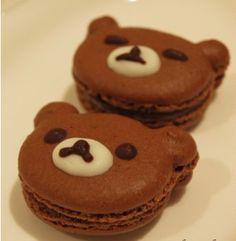 Rilakkuma macaron again! Rilakkuma, Dessert Bars, Dessert Recipes, Sweet Desserts, Cute Food, Yummy Food, Singapore Food, Cute Cookies, Something Sweet