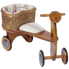 This would be a sweet first birthday gift for Wyatt. I love the simplicity of it, and the basket for treasures!