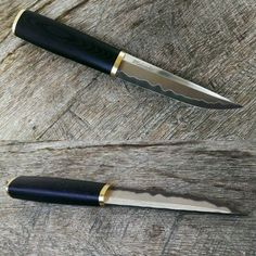 New puukko. Blade is sanmai with bohler k390 (64rc) and n690ss. Handle is black canvas micarta. #puukko #handwork #handmade #knifenut #knifecommunity #knifeporn #knife #micarta