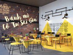 Small Restaurant Design, Deco Restaurant, Restaurant Interior Design, Cafe Shop Design, Coffee Shop Interior Design, Office Interior Design, Fast Food Design, Cafe Wall, Decoration