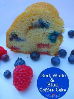 Red, White and Blue Coffee Cake recipe - RecipeGirl.com