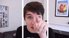 ...BOOP! | 13 GIFs That Pop Right Off The Screen THIS IS SO CUTE UGH DAN YOU SO PERF