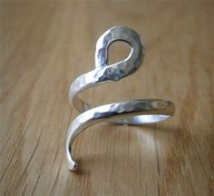 Organic Adjustable Sterling Silver Ring. So beautiful!