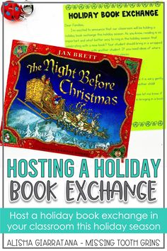 Host a holiday book exchange in your classroom with these easy tips and tricks. Students in kindergarten, first grade, or second grade will love this activity during the Christmas season and will get a new book when they exchange with a friend. Read the Night Before Christmas to make it more fun! Get a free letter to send home to families and parents on this post!