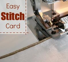 Stitch Card Reference Guide - The Sewing Loft