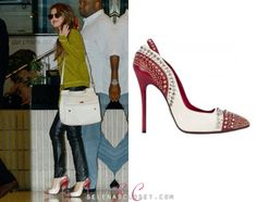 Selena Gomez stepped out in Paris today wearing a pair Cesare Paciotti 'Luxy' Pumps. These pumps are embellished with Swarvovski crystals and studs, and are on sale for $1,040.00. Buy them HERE Thanks loveme-fearlessly! She's also wearing a Kenzo sweatshirt and her Dolce & Gabbana bag.