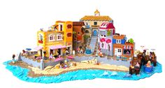 Built for the Rebrick Best Friends contest.        Best Friends on Vacation    Whether those friends are two-legged or four-legged, everyone is having ...