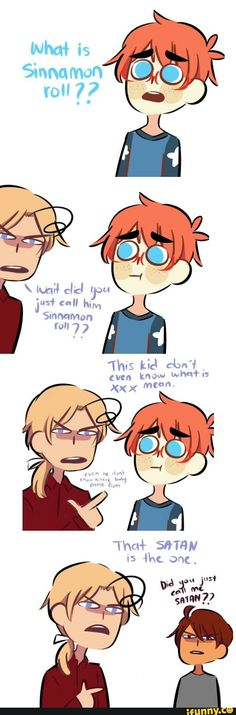 What is a sinnamon roll? Mat forgot to explain O. Spamano, Usuk, Hetalia Funny, Hetalia Characters, Homestuck, Anime, Fandoms, Fan Art, Comics