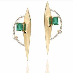 High Jewelry, Modern Jewelry, Jewelry Accessories, Jewelry Design, Fashion Rings, Fashion Jewelry, Pakistani Jewelry, Diamond Earing, Gemstone Earrings