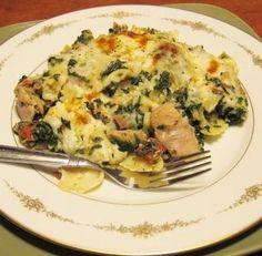easy healthy chicken spinach casserole