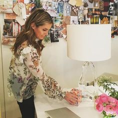WEBSTA @ aerin - Shooting today in our NYC design studio with a great partner @visualcomfortco #AERINlighting