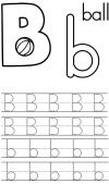 Writing Sheet Letter B