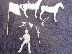 65mm? Horse and Soldier USA Started White Metal Military Figure #
