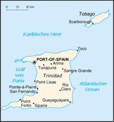 Karte Trinidad und Tobago