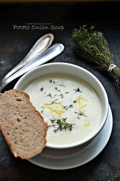 Smaki Alzacji : Potato onion soup - pyszna!